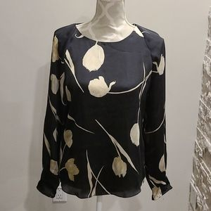 Next floral blouse black and taupe